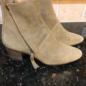 Suede tan boots